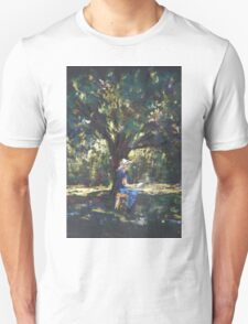 Anne painting under the trees T-Shirt
