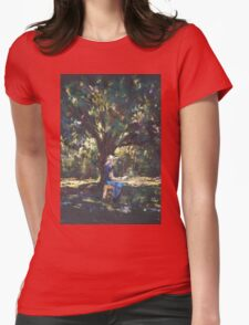 Anne painting under the trees Womens Fitted T-Shirt