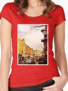 Cork City Street Scene 001  Women's Fitted Scoop T-Shirt