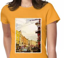 Cork City Street Scene 001  Womens Fitted T-Shirt