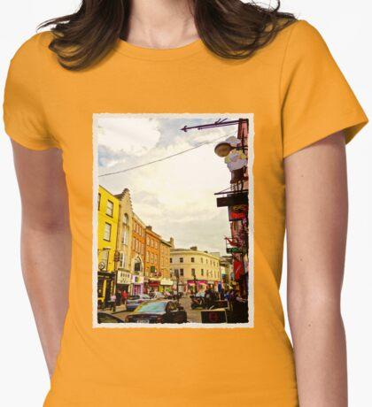 Cork City Street Scene 001  Womens Fitted T-Shirt