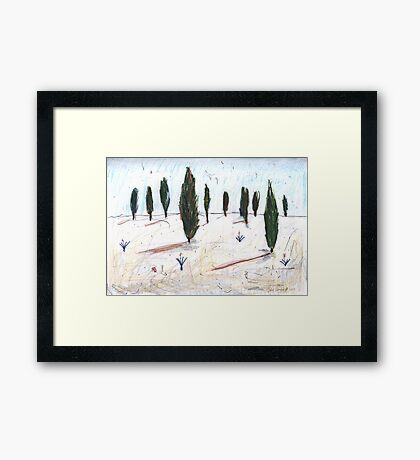 Trees on the Hill Framed Print