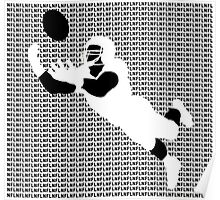 NFL American Football Jumping for Ball  Poster