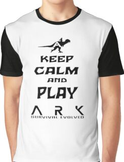 KEEP CALM AND PLAY ARK black Graphic T-Shirt