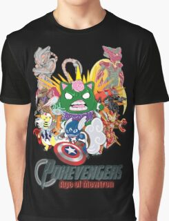 Pokevengers: Age of Mewtron Graphic T-Shirt