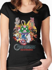 Pokevengers: Age of Mewtron Women's Fitted Scoop T-Shirt