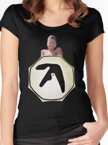 Window Licker - Aphex Twin Women's Fitted Scoop T-Shirt