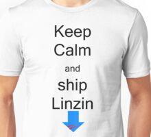 Keep calm and ship linzin Unisex T-Shirt