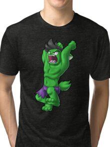 Kitty Hulk (Green) Tri-blend T-Shirt
