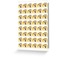 Coffee cup hipster pattern Greeting Card