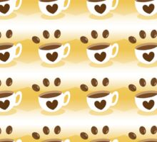 Coffee cup hipster pattern Sticker