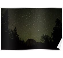 Half Dome under the Stars Poster