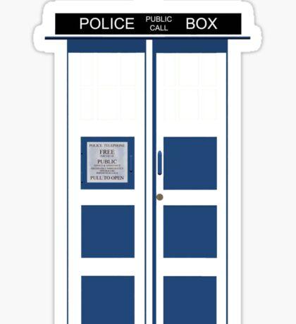 Big Blue Box Sticker