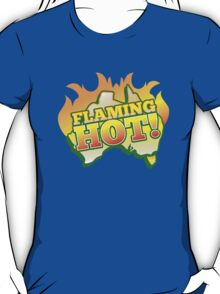 FLAMING HOT with aussie map and fire! T-Shirt