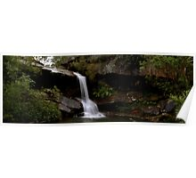 McCarrs Creek waterfall panorama Poster