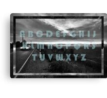 The Moody Alphabet  Canvas Print