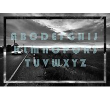 The Moody Alphabet  Photographic Print