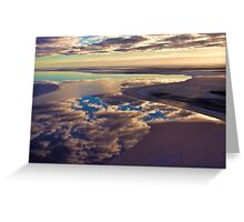 Lake Eyre cloud reflections Greeting Card