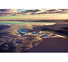 Lake Eyre cloud reflections Photographic Print