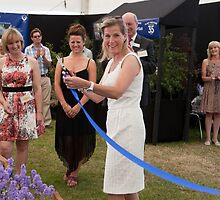 Sophie The Countess of Wessex at RHS Hampton Court Palace Flower show 2013 by Keith Larby