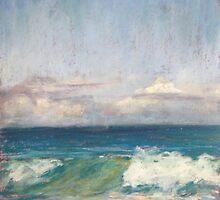 Flynns Beach clouds & waves by Terri Maddock