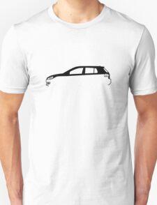 Silhouette Volkswagen VW Golf Mk6 Unisex T-Shirt