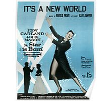 IT'S A NEW WORLD (vintage illustration) Poster