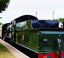 Steam Hauled MK1 carriages. by littleredbird