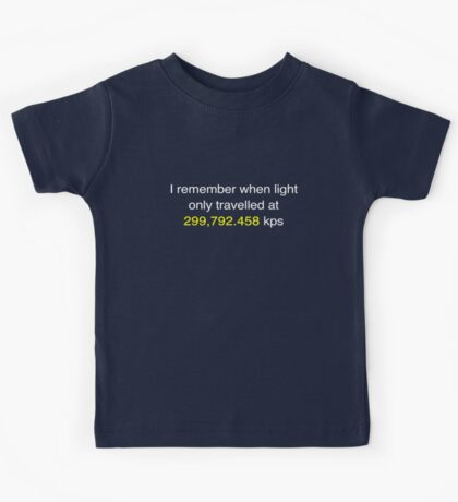 E=MC2  ?       Light Speed Tee (metric) Kids Tee