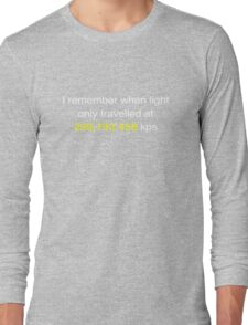 E=MC2  ?       Light Speed Tee (metric) Long Sleeve T-Shirt