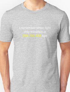 E=MC2  ?       Light Speed Tee (metric) T-Shirt
