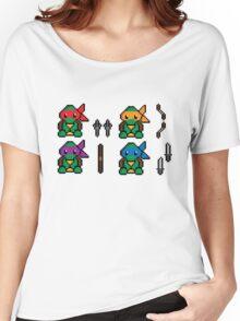 Teenage Pixel Ninja Turtles Women's Relaxed Fit T-Shirt