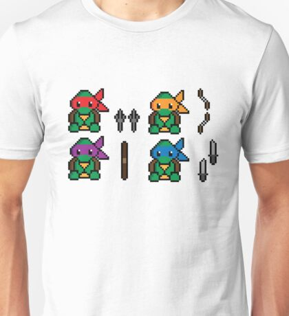 Teenage Pixel Ninja Turtles Unisex T-Shirt