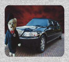 Teddy Bear Limousine Chauffeur Kids (CHILDRENS) Tee Shirt One Piece - Long Sleeve