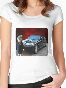 Teddy Bear Limousine Chauffeur Kids (CHILDRENS) Tee Shirt Women's Fitted Scoop T-Shirt