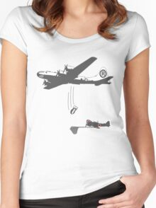 Funny WW2 Enola Gay  Women's Fitted Scoop T-Shirt