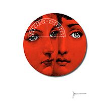 Lady Faces (Red) Photographic Print