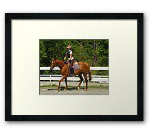 Equestrian Form Framed Print