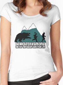 Funny fat joke Women's Fitted Scoop T-Shirt