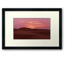 Sunrise On The Sahara Framed Print