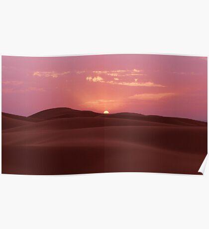 Sunrise On The Sahara Poster