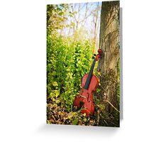 Violin Woodland Greeting Card