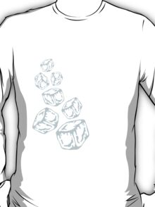 Ice Cubes Design T-Shirt
