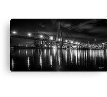 Anzac Bridge by night Canvas Print
