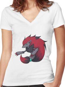 Zoroark Women's Fitted V-Neck T-Shirt