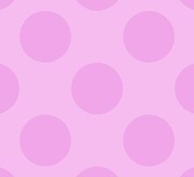 Artistic Abstract Retro Polka Dots Pink by sitnica