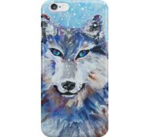 Snow Wolf - Animal Art by Valentina Miletic iPhone Case/Skin