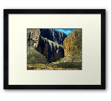 Big Bend Santa Elena Canyon Framed Print