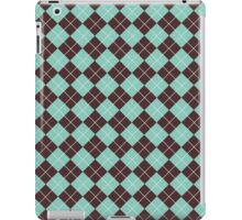 Green and Brown Argyle Plaid Checks Pattern iPad Case/Skin