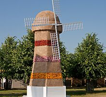 A windmill at the RHS Hampton Court Flower Show 2013 by Keith Larby